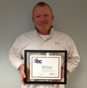 Scott with ABC Safety Award